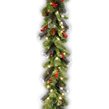 Outdoor//Indoor Use 2 Strands Artificial Pine Garland Soft Greenery Garland for Holiday Wedding Party Decoration Lvydec 36 Feet Christmas Garland