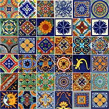 9 Pieces A1 Export Quality! NOT Stickers Ceramic Talavera Mexican Tile 4x4 Mint